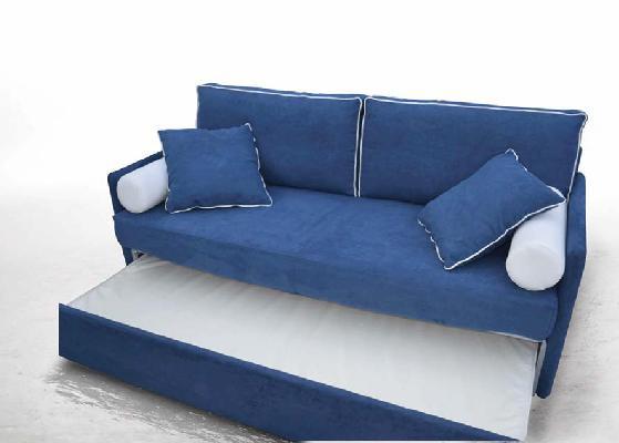 Divano letto modello dalia realizzabile con rete estraibile o