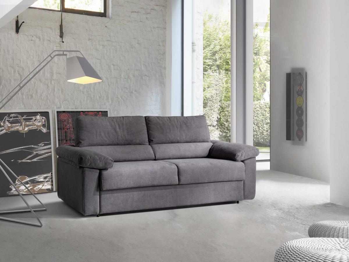 Divano letto cinzia con materasso alto 18 cm fedelflex - Divano letto con materasso alto 20 cm ...