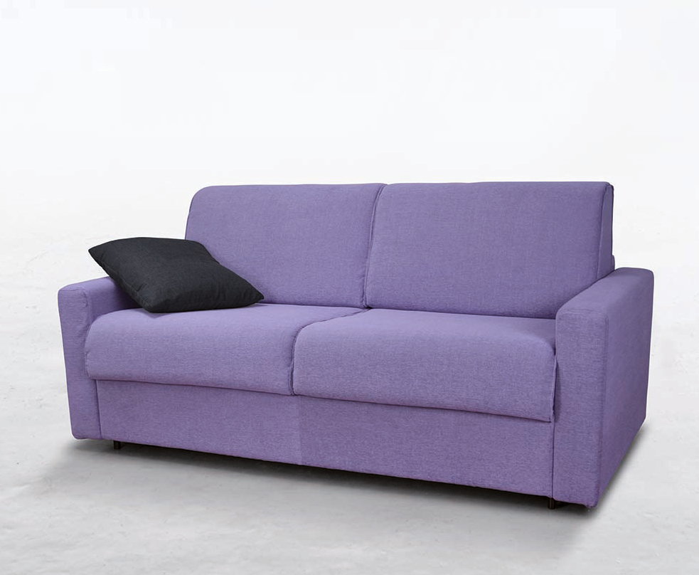 Divano letto modello cleo con materasso alto 18 cm fedelflex - Divano letto con materasso alto ...